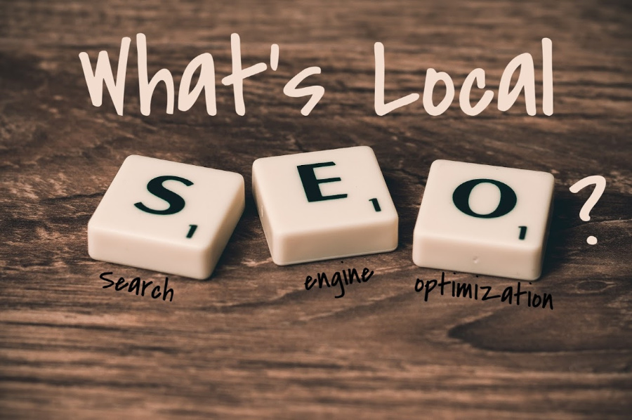 """Scrabble tiles and text posing the question, """"What's local SEO?"""""""