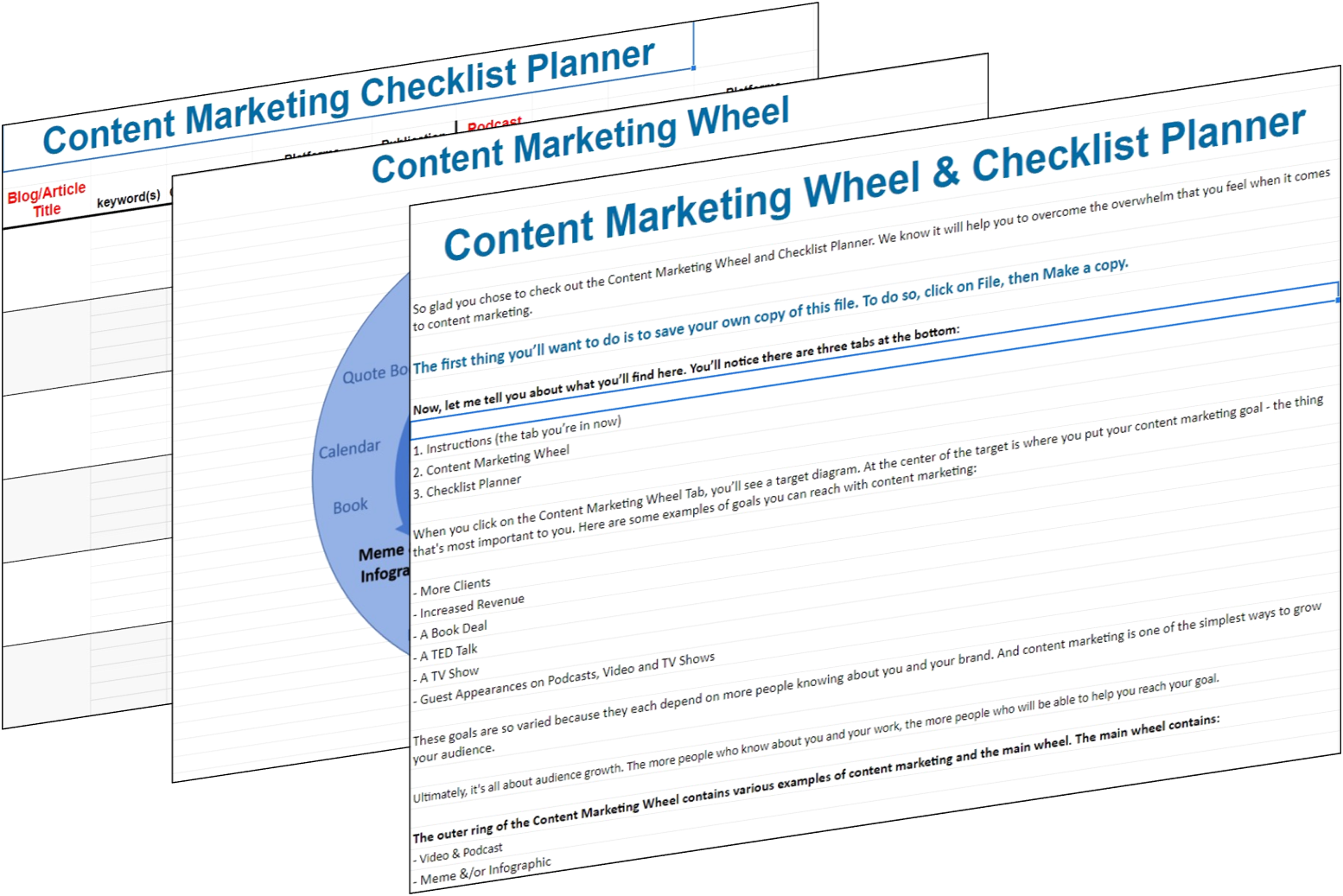 content marketing mockup